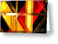 Abstract Tan 7 Greeting Card