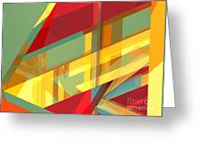Abstract Tan 9 Greeting Card