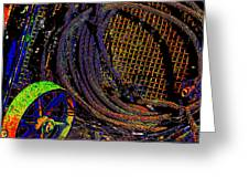 Abstract Textures Greeting Card