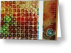 Abstract Three Greeting Card