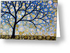 Abstract Tree Nature Original Painting Starry Starry By Amy Giacomelli Greeting Card
