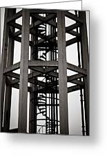 Abstract Water Tower Greeting Card