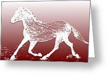 Abstract Wild Running Horse  Greeting Card