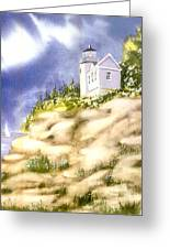 Acadia Lighthouse Greeting Card