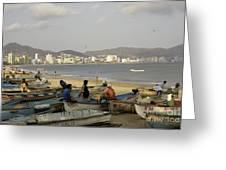 Acapulco Fishermen Greeting Card