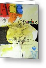 Ace Of Spades 25-52 Greeting Card