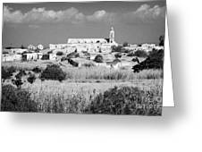Achna Abandoned Greek Village Now Within The Un Buffer Zone In The Green Line Dividing Cyprus Greeting Card