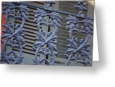 Acorn Railing In New Orleans Greeting Card