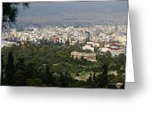 Acropolis View Of Athens Greeting Card