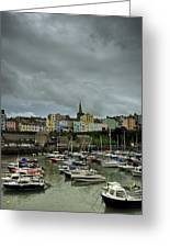 Across Tenby Harbour Greeting Card