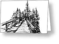 Across The Bridge Greeting Card