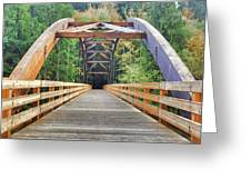 Across The Bridge Greeting Card