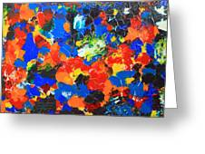 Acrylic Abstract Upon Wood Greeting Card