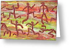 Acrylic Stickmen 2009 Greeting Card