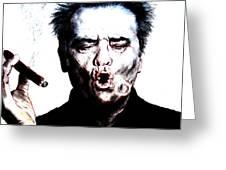 Actor Jack Nicholson Smoking  II Greeting Card
