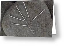 Acupuncture Needles Greeting Card