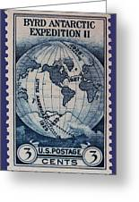 Admiral Richard Byrd Postage Stamp Greeting Card