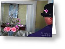 Admiring The Southernmost Flowers Greeting Card