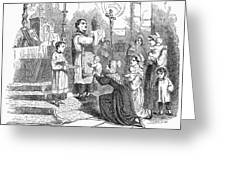 Adoration Of Relics Greeting Card