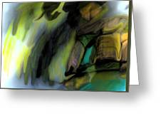 Adrift In The Storm Greeting Card