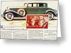 Ads: Buick, 1932 Greeting Card