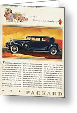 Ads: Packard, 1932 Greeting Card