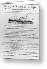 Advertisement: Steamship Greeting Card