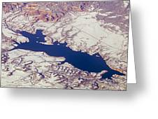 Aerial Of Abiquiu Reservoir Covered Greeting Card