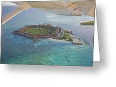 Aerial Of Fort Jeffereson, At Dry Greeting Card by Mike Theiss