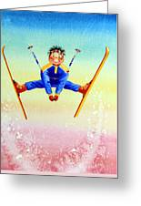 Aerial Skier 17 Greeting Card
