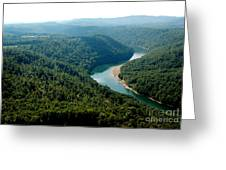 Aerial View Gauley River Greeting Card