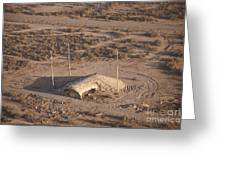 Aerial View Of A Destroyed Iraqi Greeting Card