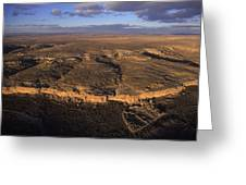 Aerial View Of Chaco Canyon And Ruins Greeting Card