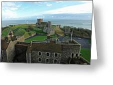 Aerial View Of Dover Castle Greeting Card