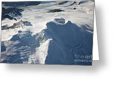 Aerial View Of Glaciated Mount Douglas Greeting Card