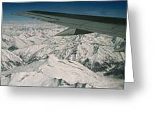 Aerial View Of Himalaya From Plane En Greeting Card