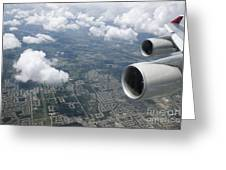 Aerial View Of Landscape Greeting Card