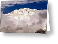 Aerial View Of Mountains, Annapurna Greeting Card