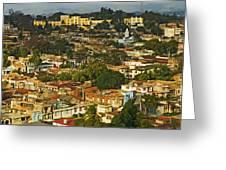 Aerial View Of Santiago De Cuba, Cuba Greeting Card