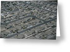 Aerial View Of Suburban Greeting Card