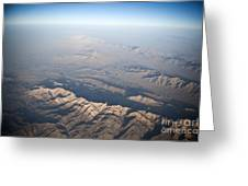 Aerial View Of The Mountainous Greeting Card
