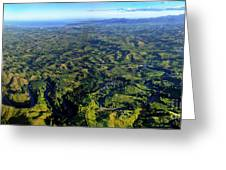 Aerial View Of The Nadi River Winding Greeting Card