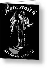 Aerosmith In Spokane 1b Greeting Card
