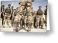 Afghan Air Force Members Get Briefed Greeting Card