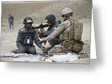 Afghan Police Students Assemble A Rpg-7 Greeting Card