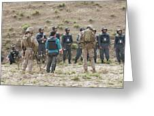 Afghan Police Students Listen To U.s Greeting Card