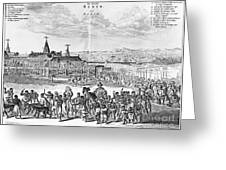 Africa: Benin City, 1686 Greeting Card