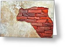 Africa In Bricks Greeting Card