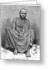 Africa: Yao Chief, 1889 Greeting Card