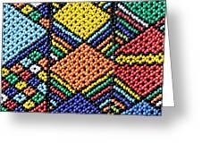 African Beadwork 2 Greeting Card